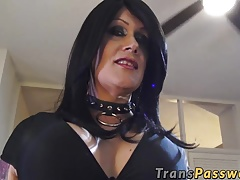 Black-haired mature  with..