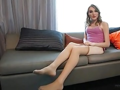 Stockinged T-girl Soles and..