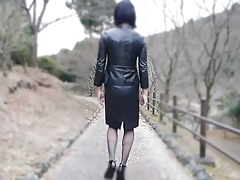 crossdresser leather..