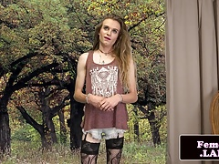 Thin tattooed femboy..