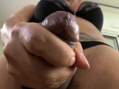 Super-hot tranny gets facial..
