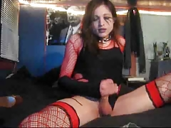 Unexperienced Tgirl Finishes..
