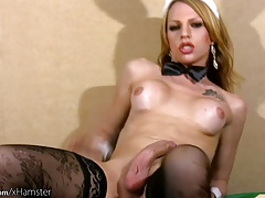 Insane t-girl unwraps off..