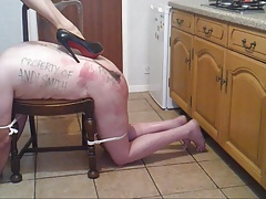 She-male  whips slave
