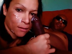 Tgirl Throating Big black..