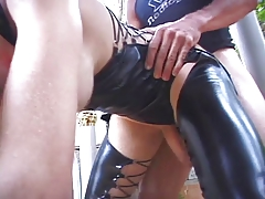 in latex doing buttfuck